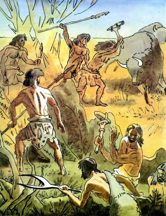охота древнего человека картинки має повне